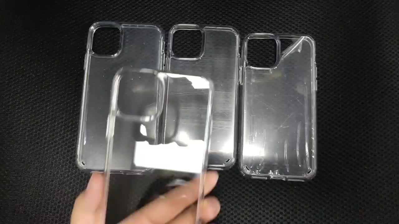 Acrylique Dur Antichoc TPU clair Pour iPhone 11 Pour iPhone 11 Pro MAX Étui pour Téléphone Portable Avec emballage de vente au détail