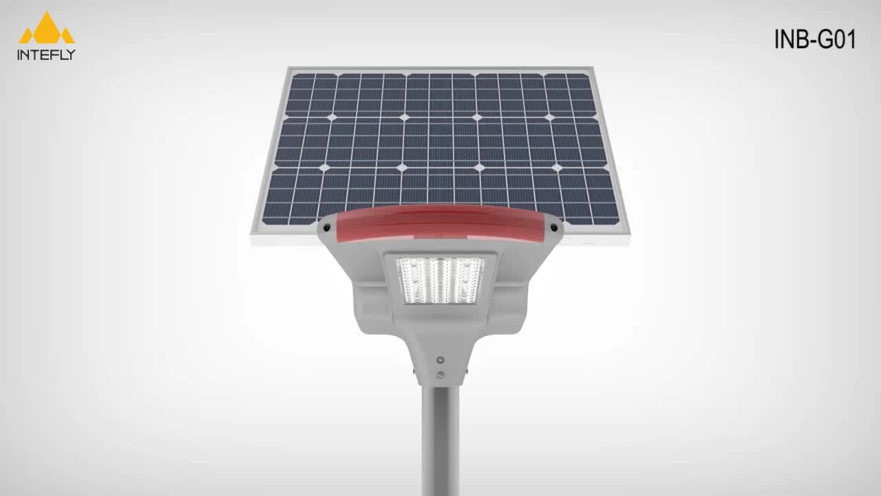 Factory competitive price 12v70w outdoor lighting fixture separated all in one solar power street led light with remote control