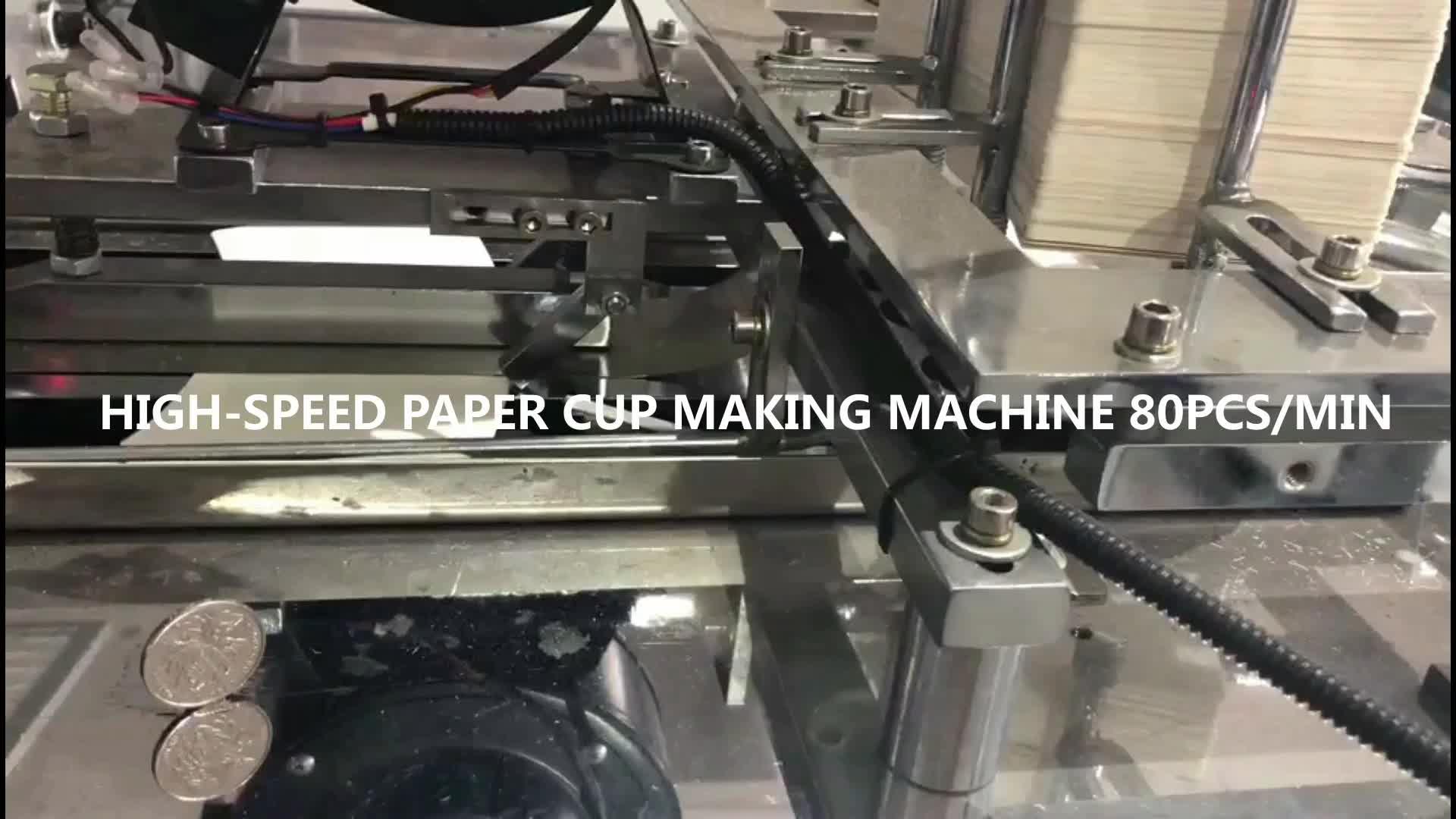 ZB-A12 yüksek hızlı otomatik ultrasonik tek kullanımlık şekillendirme kağıt bardak yapma makinesi fiyat