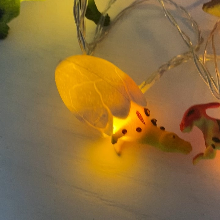 Home Party Decoration Bright Coloured Dinosaur String Lights