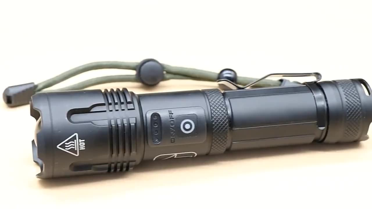 Powerful XHP99 LED Flashlight USB Rechargeable Waterproof Torch with Battery Display Telescopic Zoom Super Bright 18650 Lantern