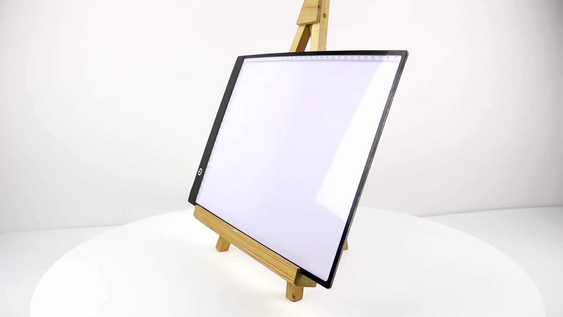 A4 led dibujo caja de luz led de luz de mesa en la caja para niños de dibujo