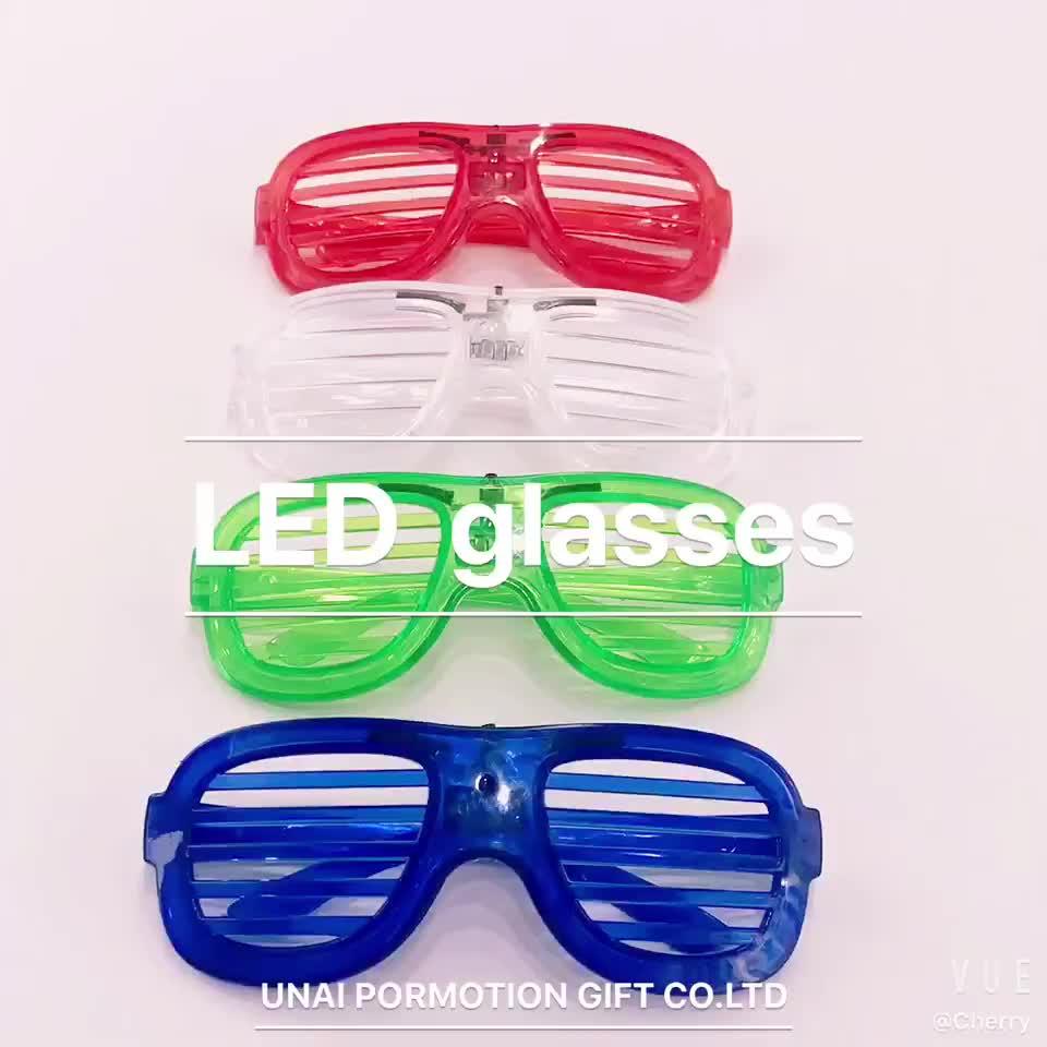 2020 светящиеся светодиодные очки для темной вечеринки по разумной цене