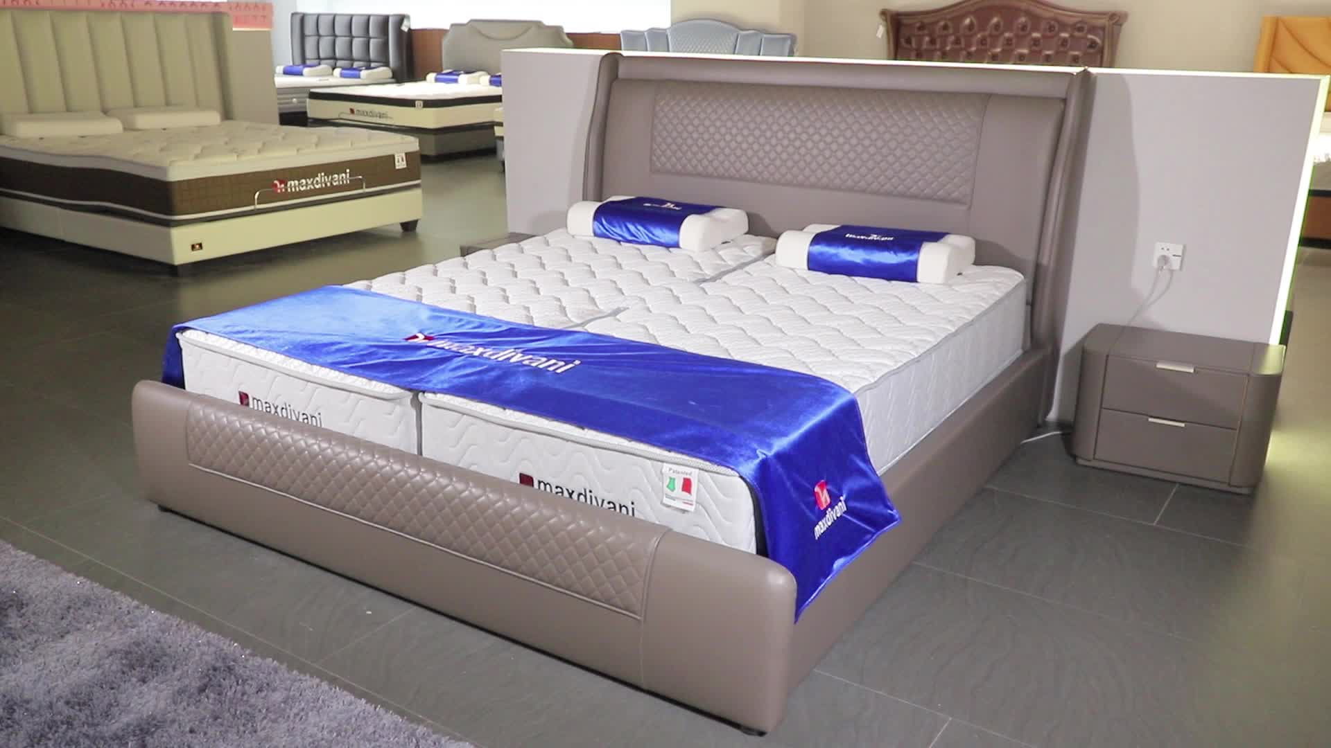 New Indian Furniture Bedroom Sleeping Double Bedroom Bed