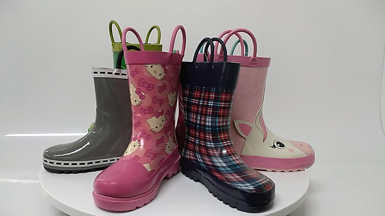 Purple butterfly flower children boots