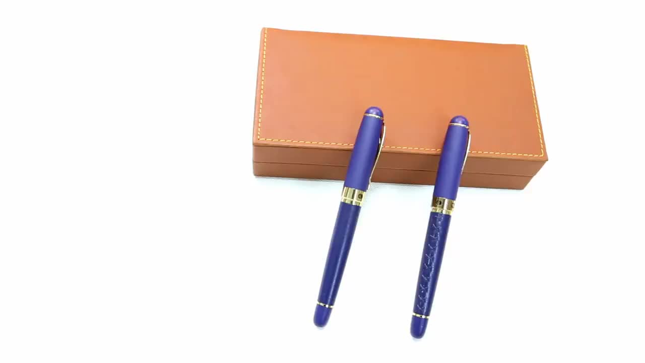 Luxury Blue Metal Fountain pen for VIP gift TC345RF