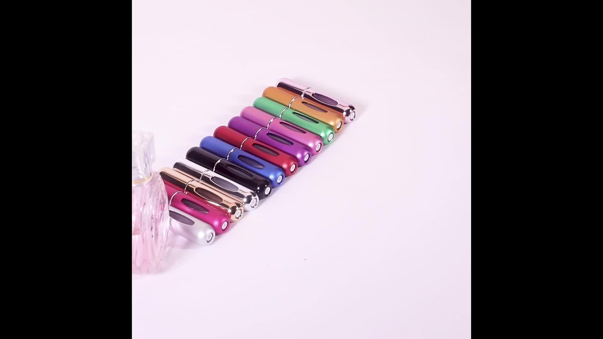 2 ml frasco de spray de 3 ml mini tamanho de bolso de plástico para frascos de amostra de perfume embalagem