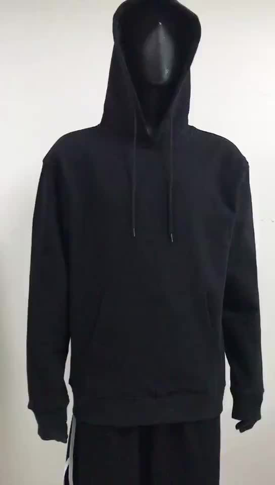 Free sample Cultural And Sports Activities Foam Printing 330 grams Black Hoodie