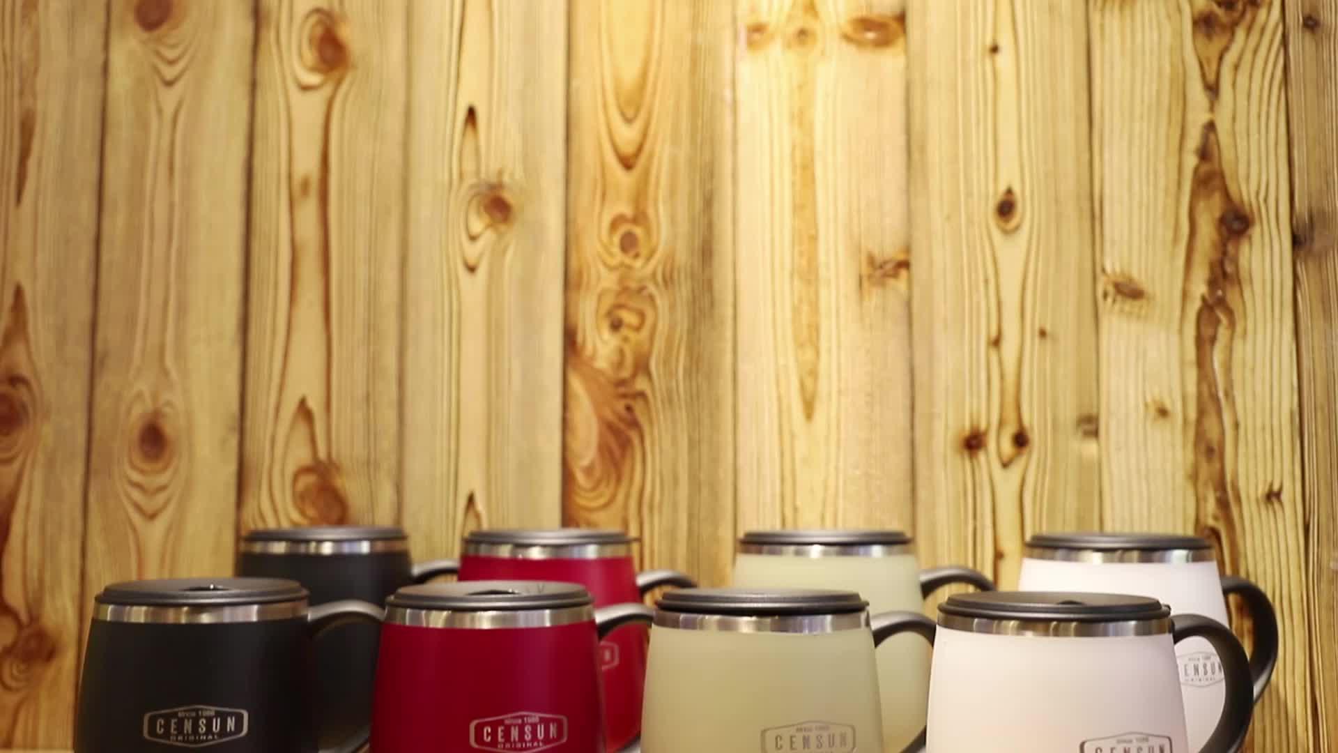 Hot Sale Stainless Steel Insulated Mug with Lid Handle Coffee Mug Travel Tumbler