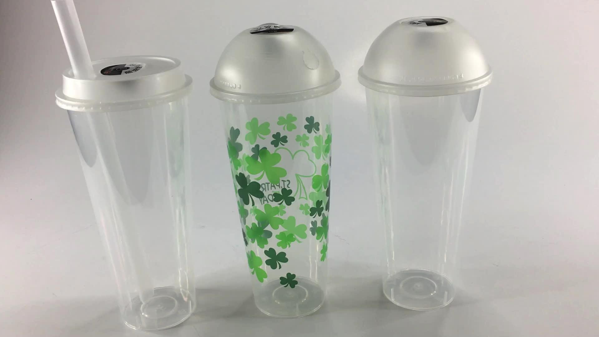 Personalisierte kunststoff LED licht stroh tumbler nach werbung tasse becher mit stroh