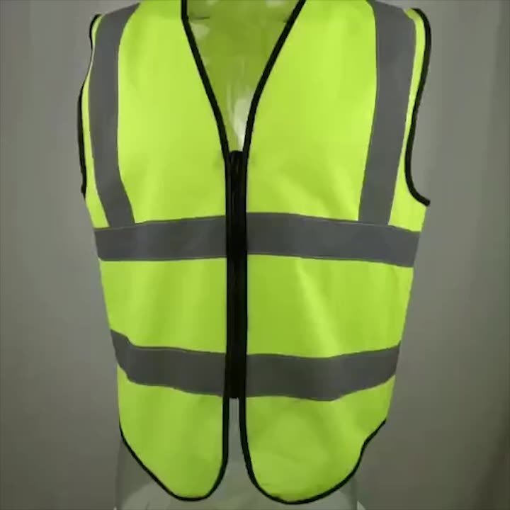 High Reflective Tape Vest Workwear High Visibility Running Cycle Warning Safety Jacket
