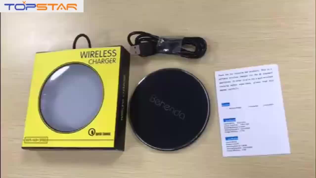 Gift promotie oplader ultra-slim draadloze oplader 10 W snelle opladen ronde pad voor mobiele telefoon snellader