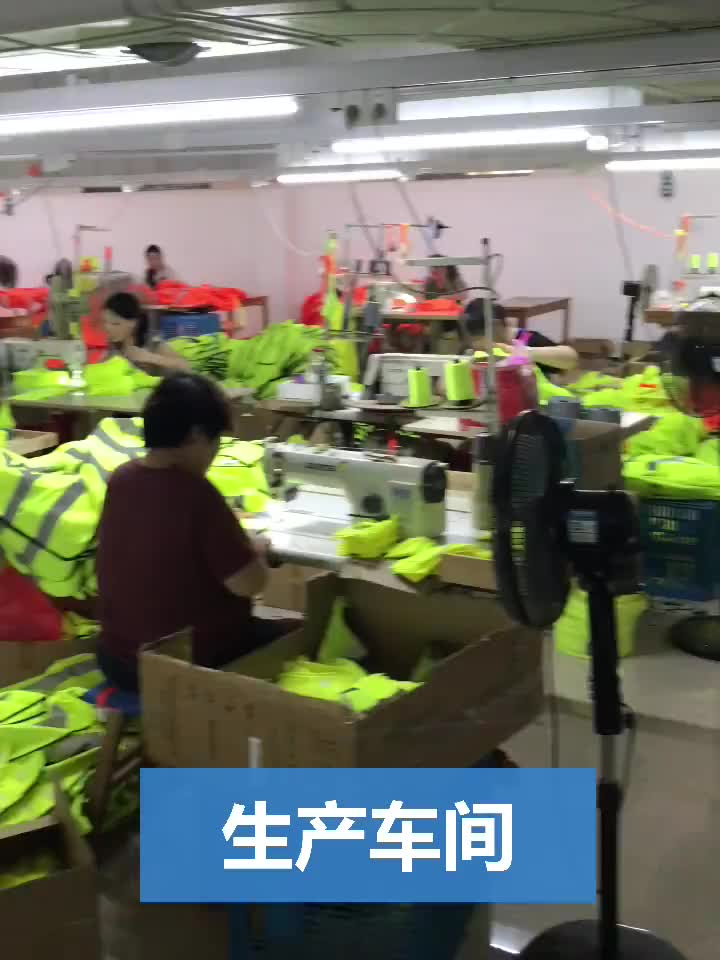 Reflective Vest Jacket Strip Mesh Fabric Construction Security Safety Vest Reflective Clothing
