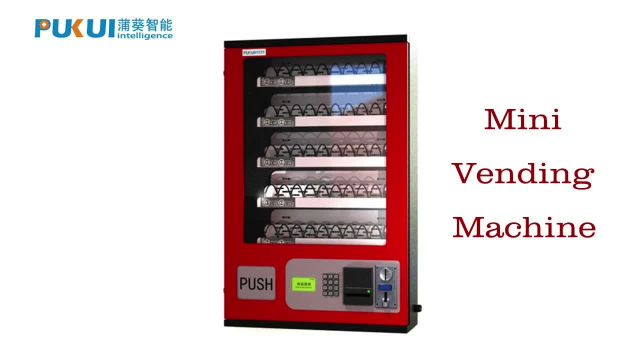 coin operated mounted wall mini vending machine