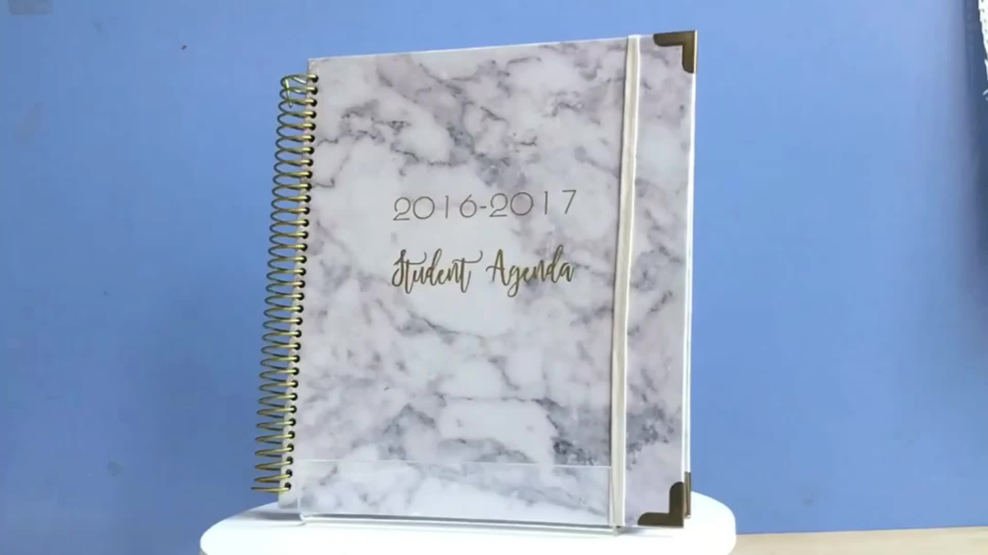Promotional wholesale month weekly life planners and organizers