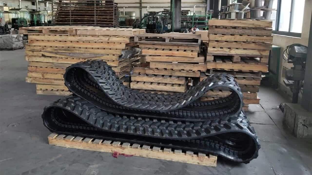 Excavator Rubber Track Chassis Rubber Track 300x52.5x80