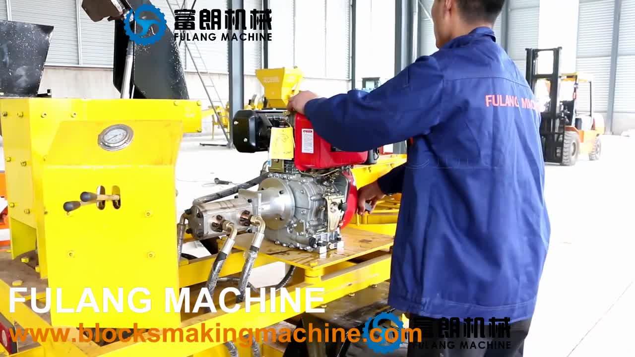 Hot sale diesel engine soil interlocking brick block making machine