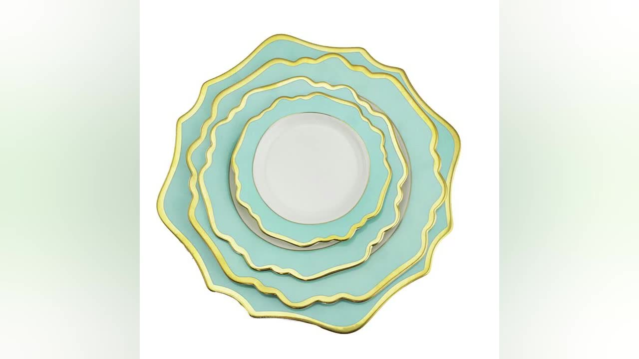 Wholesale Ceramic Plates Fine Porcelain Dinner Plates for  Wedding hot wedding plate
