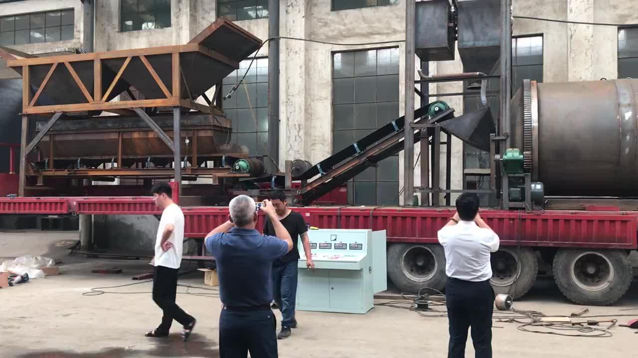Móvil 60 metros cúbicos de cemento lotes planta mezcladora de concreto en myanmar