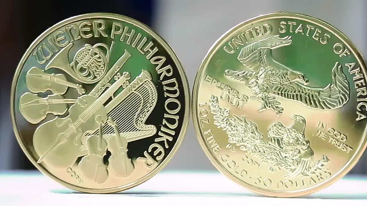 Best Selling 1 Oz. 100 Mills Vergulde $50 Dollar Replica Eagle Liberty Coin Ronde Munt Medailles Sample Gratis