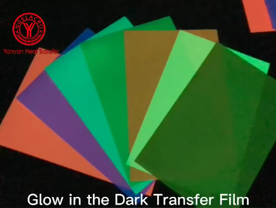 Wholesale High brightness Glow In The Dark HTV roll Heat Transfer film for clothing