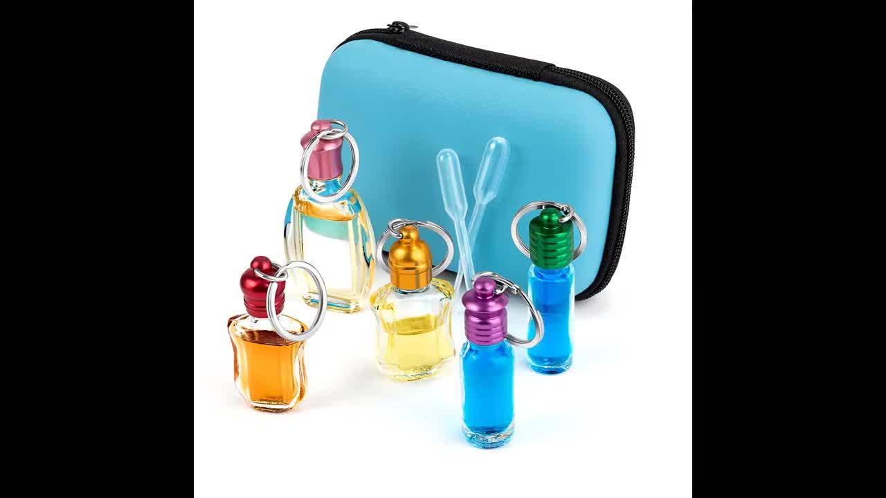 5ミリリットルガラス管ドロッパーボトル空ミニクリア不可欠オイルガラススポイト瓶でガラスピペット