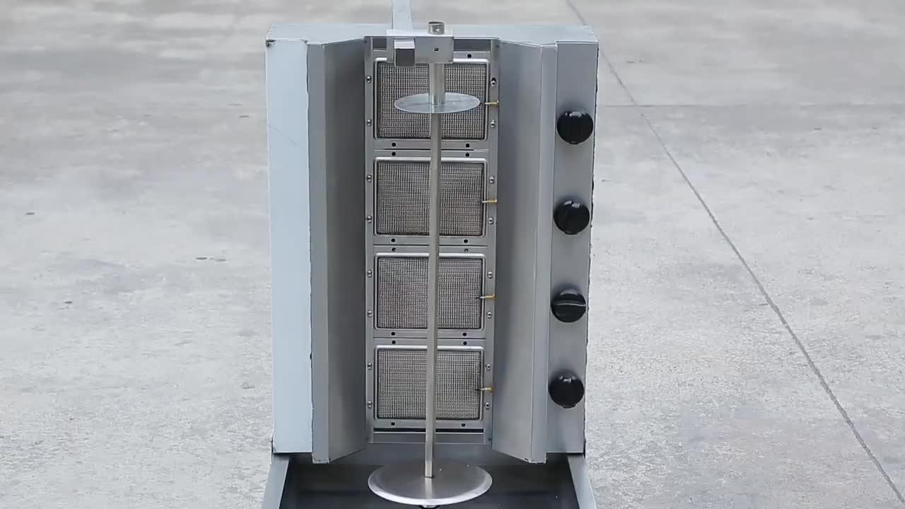 6-Gas quemador Kebab máquina/doner máquina/máquina shawarma gb-1150