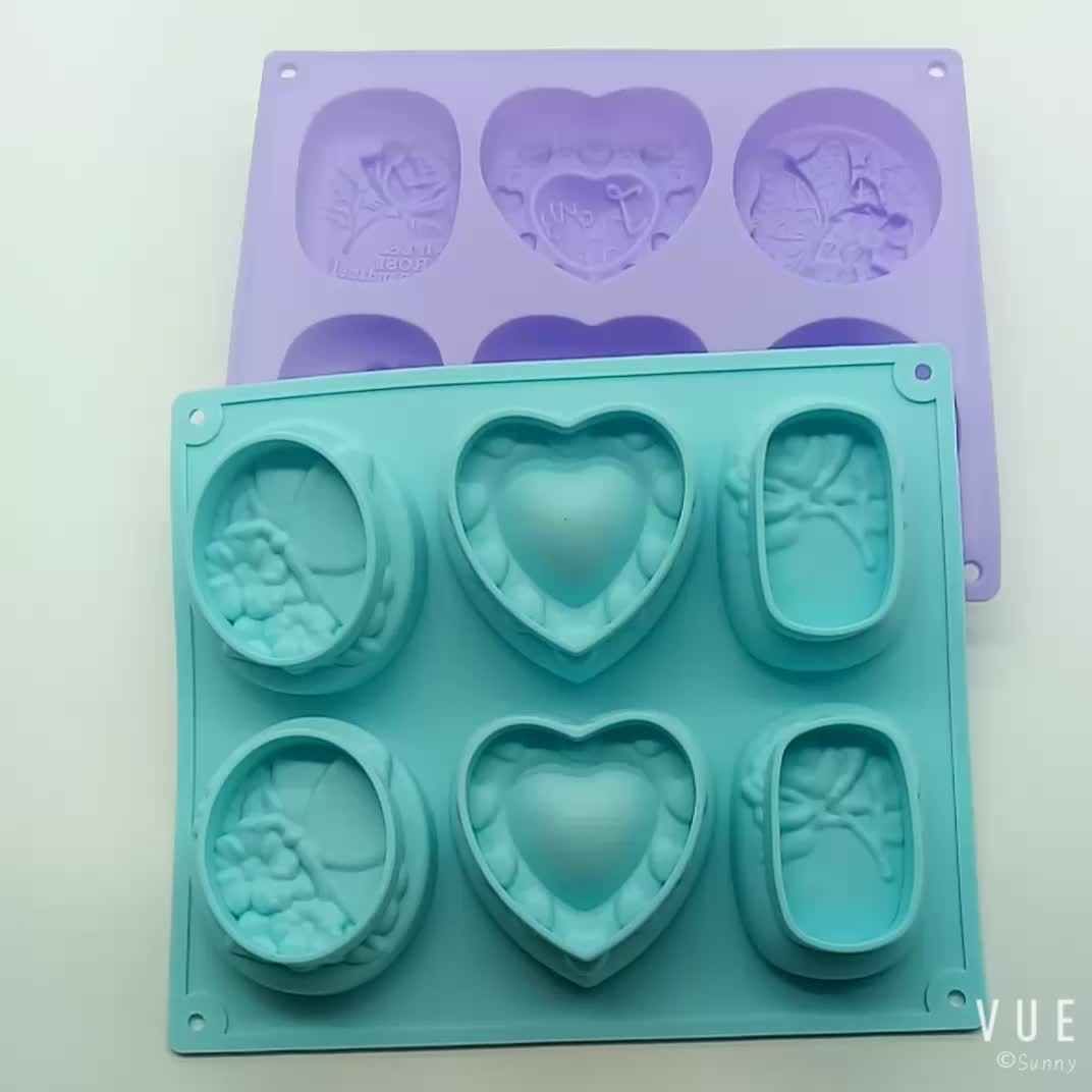 BHD New DIY Soap Molds Silicone, Homemade 3D Silicone Soap Mold