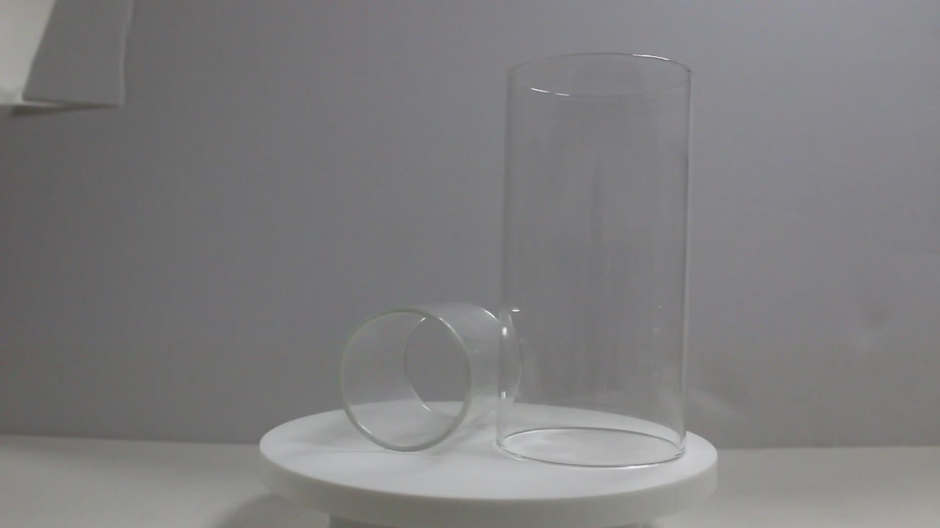 Fabriek Prijs Hittebestendigheid Helder Gehard Borosilicaatglas Buis Groothandel