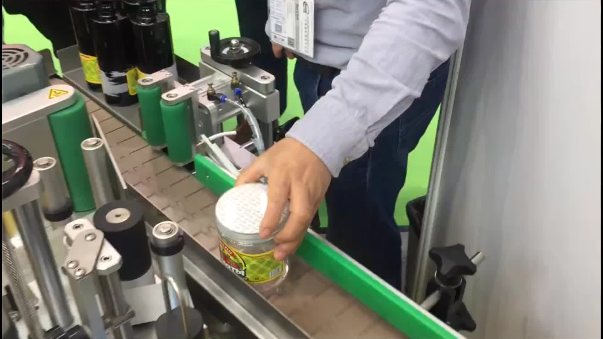 Factory Jar Round Bottle Labeling Machine Semi Automatic Label Equipment Manual Sticker Label Machine for Plastic Glass Bottle