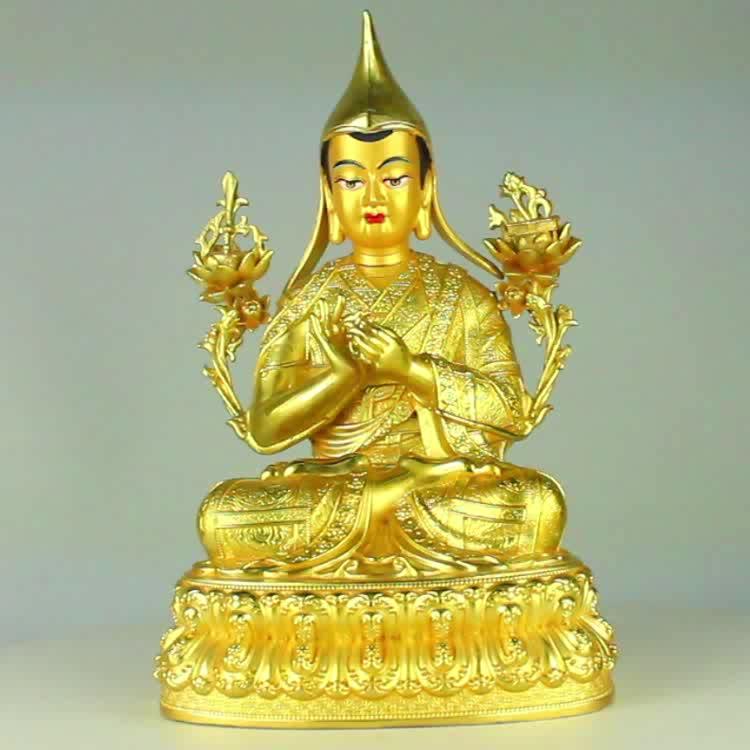 China Casting Tibetan Buddha Statue Tsongkhapa Temple small Buddha Statue For Decorate