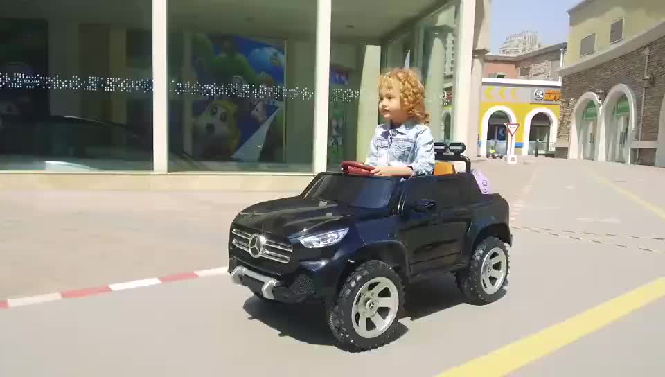 Plastic Material Ride On Car Car For Children 2 Seaters Electric Four Wheel Car