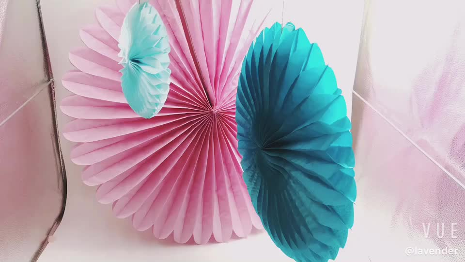 Cheap Custom Printed Wedding Paper Personalized Party Decoration Paper Fan