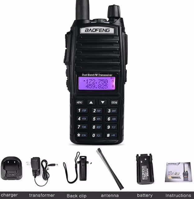 Portable Teamup UV-82 VHF/UHF Radio HAM FM Transceiver Dual Band Walkie Talkie