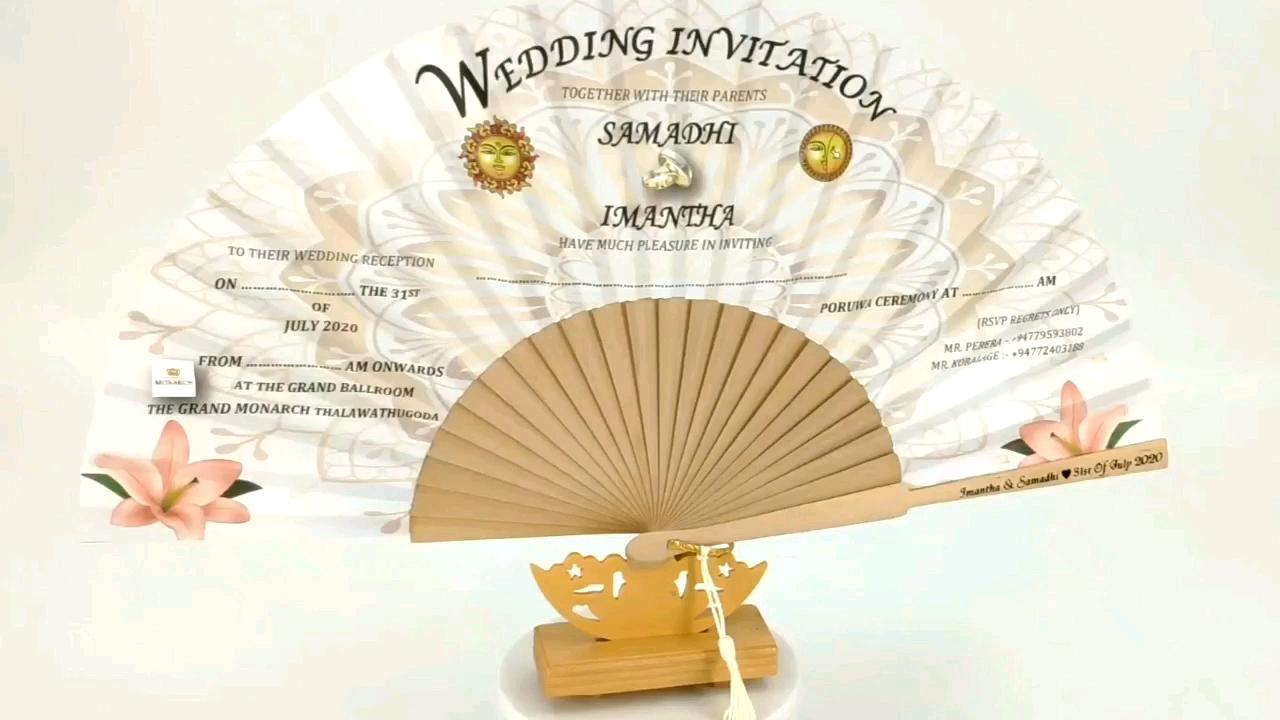Blanco de madera de regalo de boda favor VENTILADOR DE LA MANO
