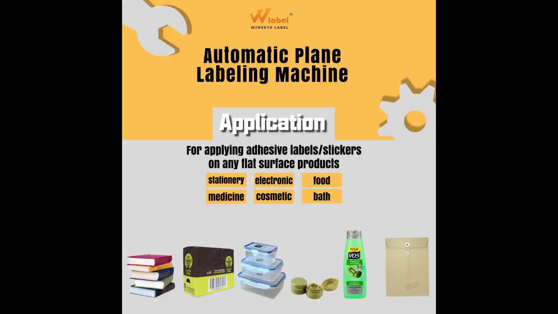 Automatico linea di prodotti ad alta efficienza piatto etichettatrice piano macchina per il libro piastra scatola di cartone