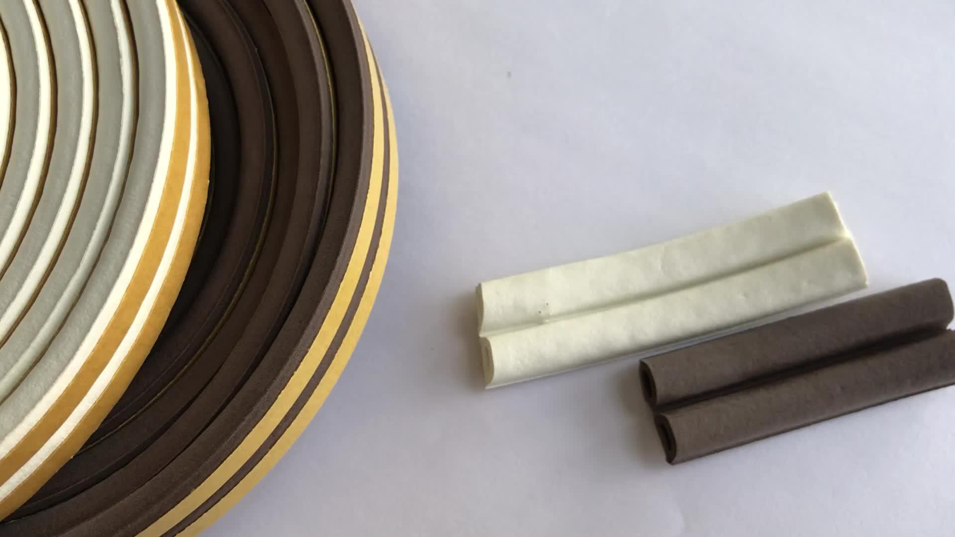 Espuma EPDM tira de puerta y ventana de viento y anticolisión con cinta adhesiva