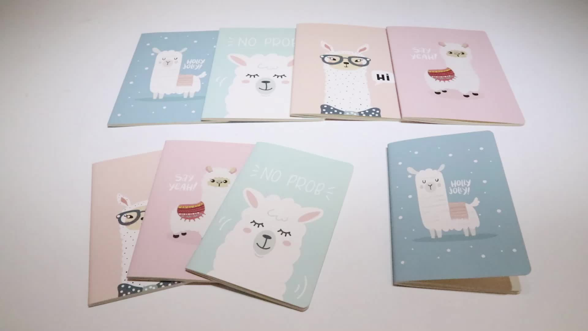 Top sale kids stationery set soft cover paper notebooks for students cartoon printed cheap custom notepads