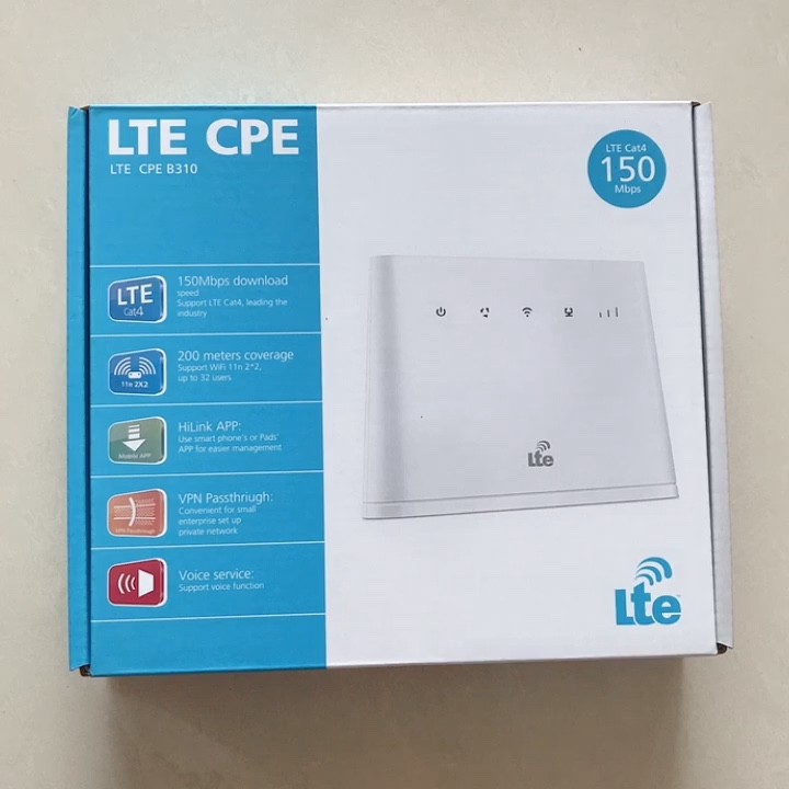 Unlocked for huawei B310 B310As-852 4g cpe wifi router wifi gateway cat6 with sim card slot