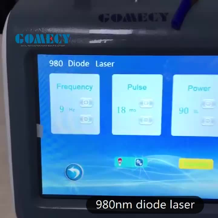 GOMECY 980nm diode laser physiotherapy medical machine/ diode laser physio therapy low back pain release machine