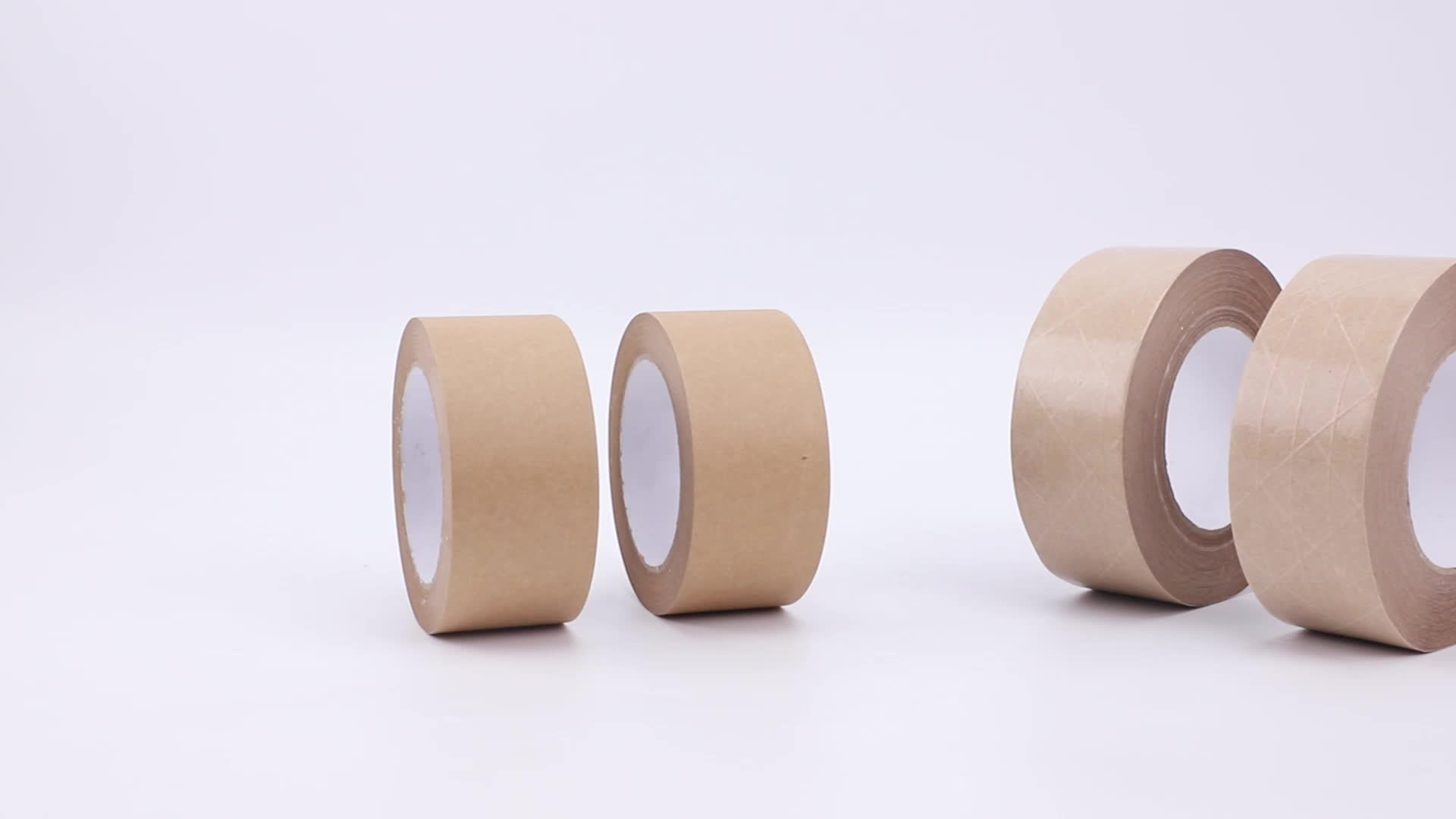 brown self adhesive water Activate Thread kraft paper tape with fiber