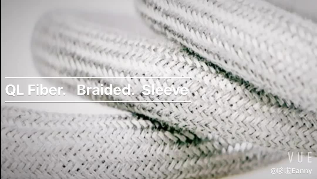 stainless steel Fiber Sleeve braided sleeves for heat resistant