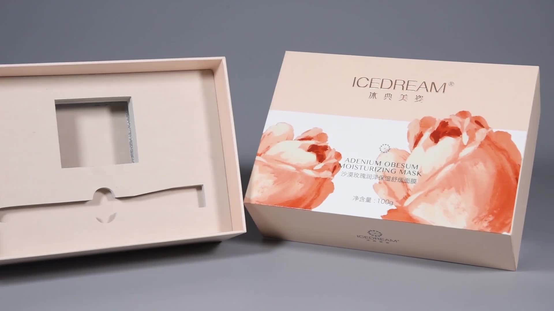 China manufacturer custom made paper box cosmetic packaging,  clear transparent pvc box packaging makeup plastic gift box