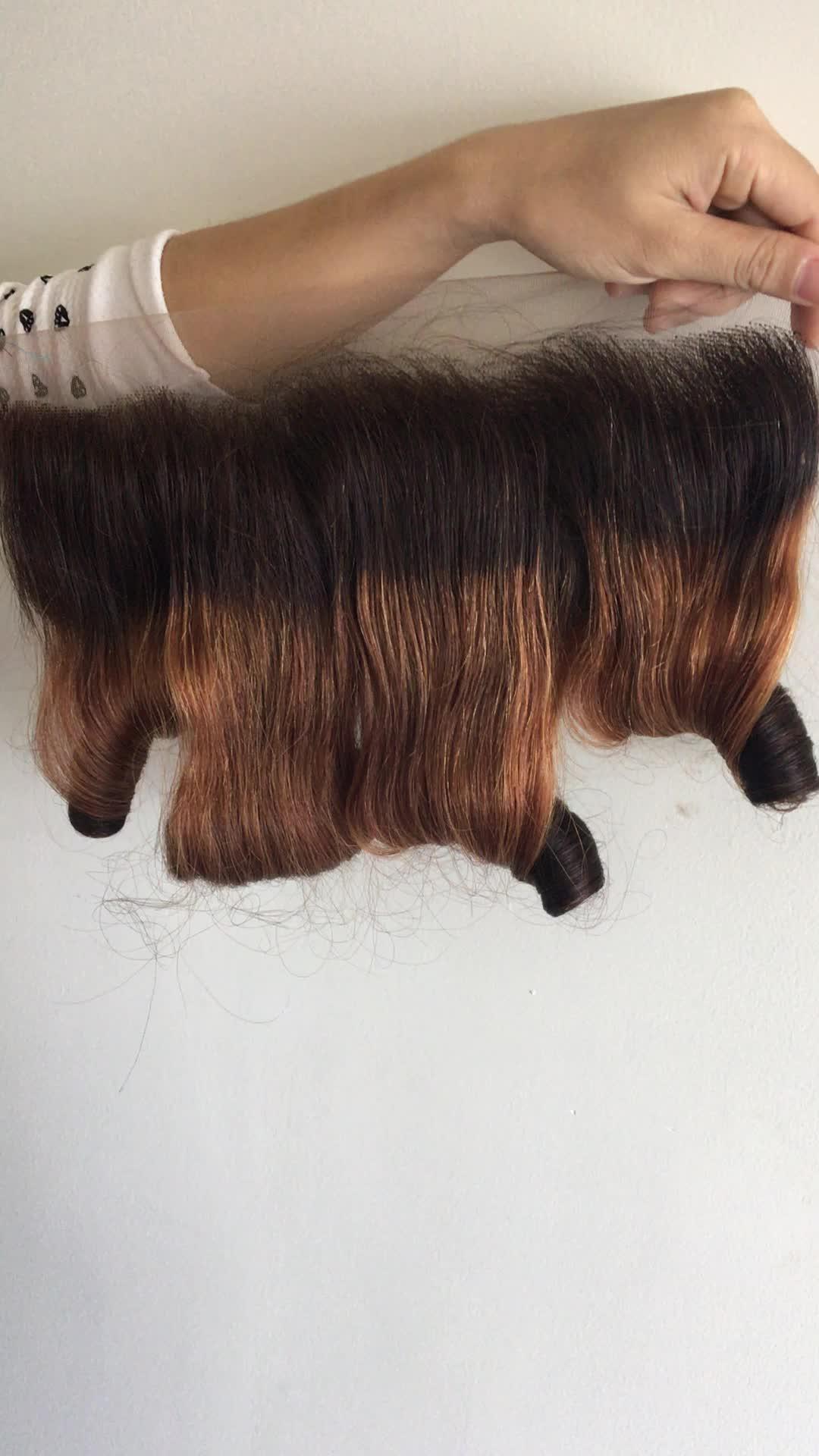 Gerade farbe farbe Menschliches Haar Extensions, 13by4 Transparent Spitze Frontal, Brasilianische haar kimclosure und lacefrontal