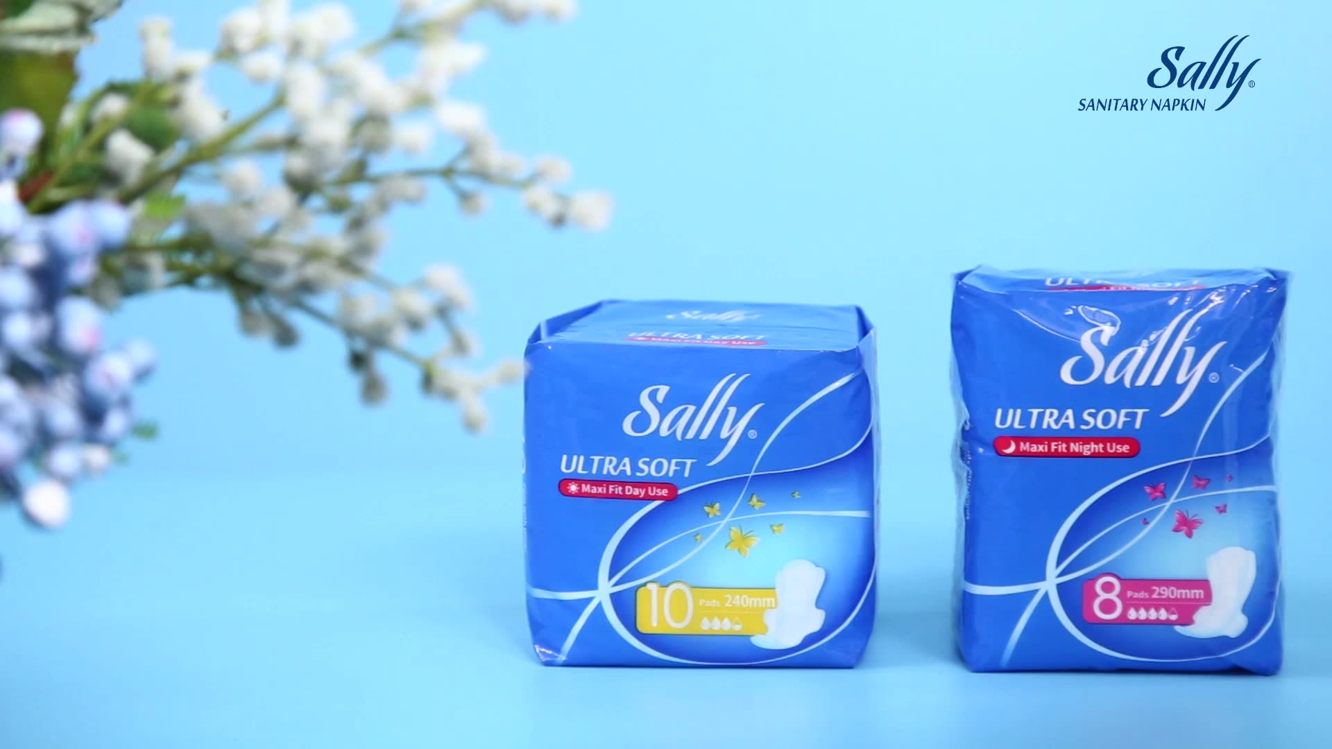 Sally brand disposable cotton ladies anion 350mm overnight sanitary napkin