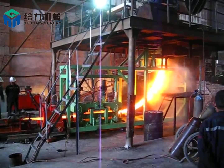 İnşaat Demiri Yapma Makinesi Çelik Kütük için Sürekli Döküm Yapıyor