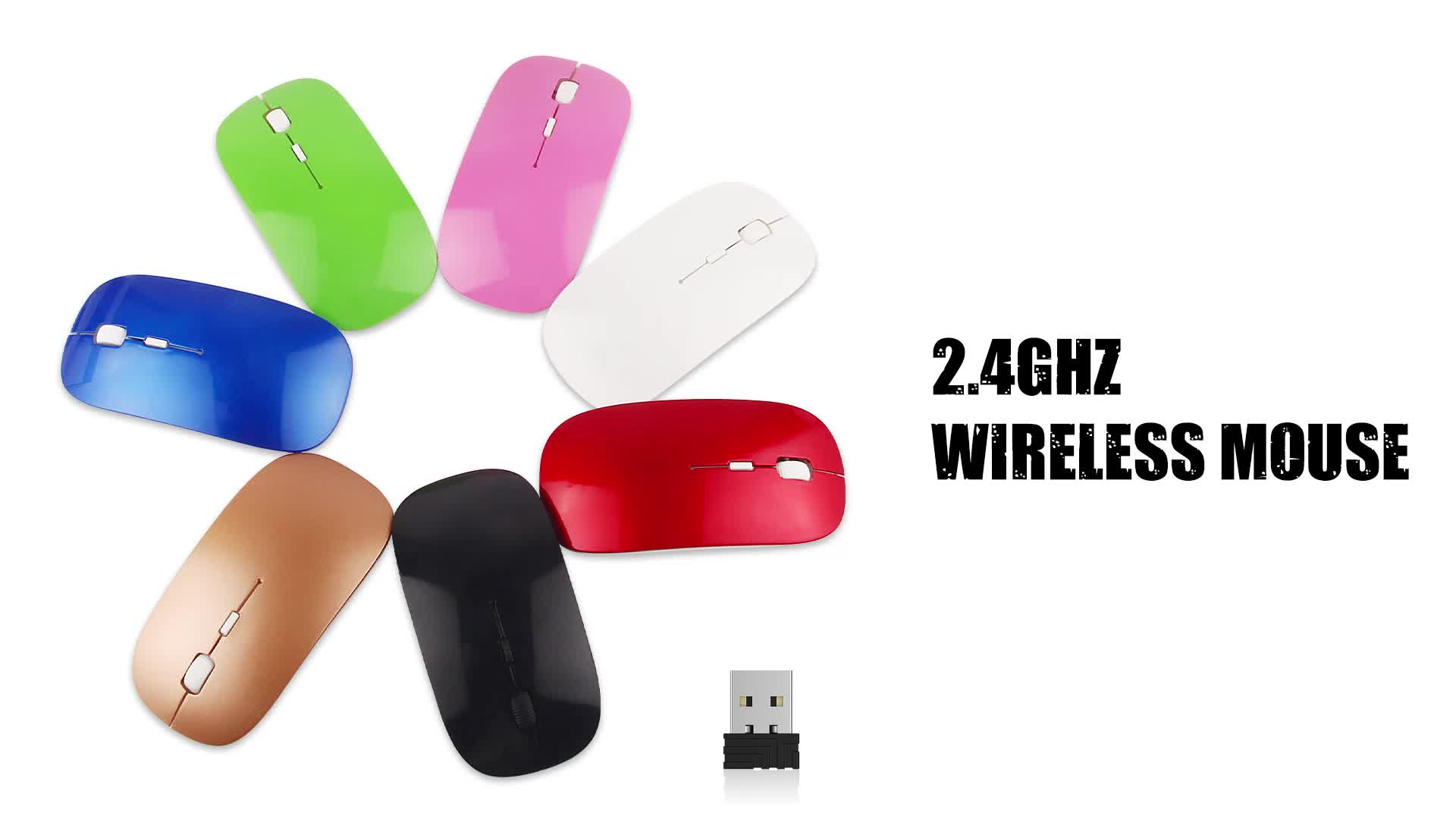OEM Promotion USB Computer Gaming Wireless Mouse for Office Home