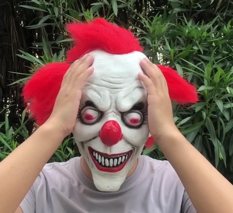 2019 TV palyaço maskesi kostüm maske ürpertici Evil korkunç cadılar bayramı lateks maskesi