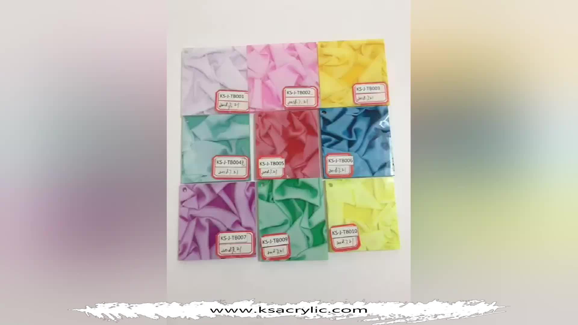 Kingsign fancy decorated flowers and fabric pattern acrylic sheet