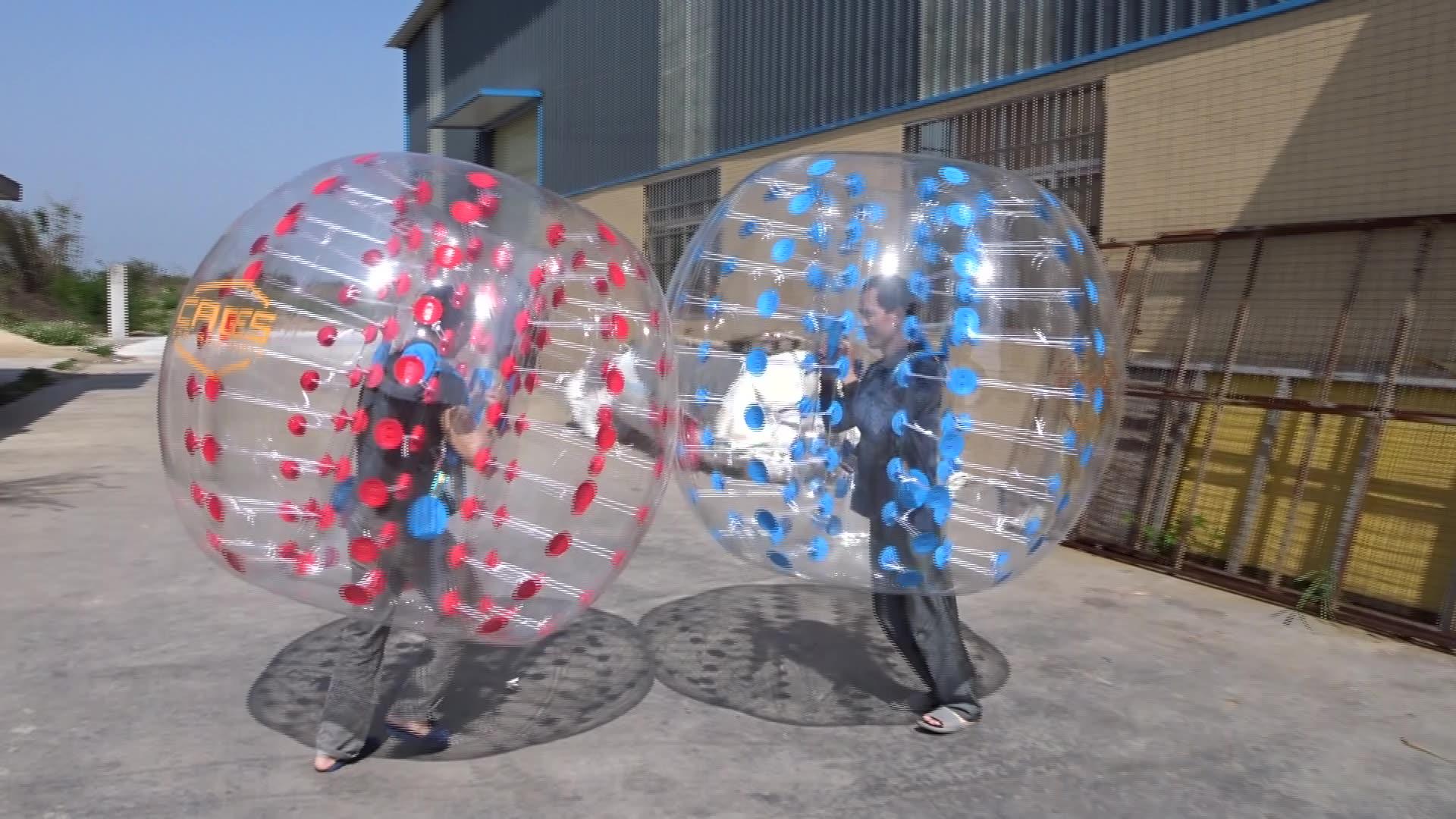 TPU atau PVC Inflatable Manusia Zorb Bola Track, Inflatable Gelembung Bola Inflatable Berjalan Bola untuk Promosi